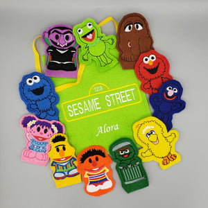 Finger Puppets Sesame Street embroidered