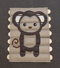 Monkey puzzle sticks embroidered