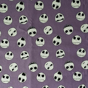 Jack Skellington heads on purple face mask