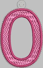 Letter 'O' for Banner HORIZONTAL & VERTICAL files 4x4 - ITH Digital Embroidery Design