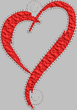 Heart for Banner HORIZONTAL & VERTICAL files 4x4 - ITH Digital Embroidery Design