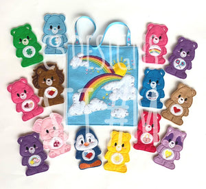 Finger Puppets Care Bears embroidered playset