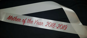"3"" Quick Economy Satin Ribbon Sash - Printed Text front only"