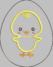 Chicky Easter Egg 4x4 stuffie - ITH Digital Embroidery Design