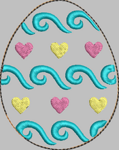 Swirls Easter Egg 4x4 stuffie - ITH Digital Embroidery Design