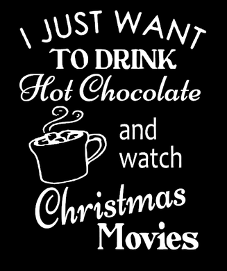 Hot Chocolate & Christmas Movies Sparkly Glitter Tee