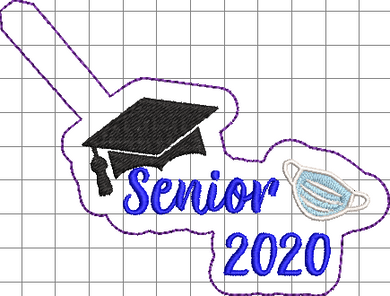 Senior Grad 2020 w/ mask - ITH Digital Embroidery Design