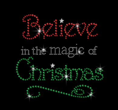 Believe in the Magic of Christmas Rhinestone Tee