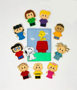 Finger Puppets Peanuts Snoopy embroidered playset
