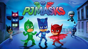 PJ Masks characters custom printed cotton blend fabric mask