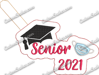 Senior Grad 2021 w/ mask - ITH Digital Embroidery Design