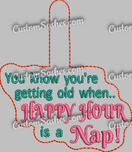 Happy Hour Snap tab - ITH Digital Embroidery Design
