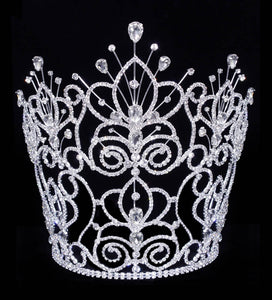 "Q1-150 Rhinestone Crown 10"" tall"