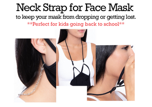 Neck strap cord or chain for face masks