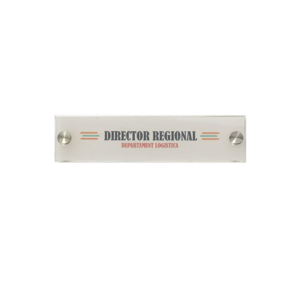 Indicator/Afisaj Do It Yourself -20x5 cm- ideal pentru imprimante A4, landscape