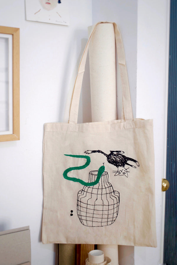 """FOR THE CAT LOVER"" // TOTE BAG"