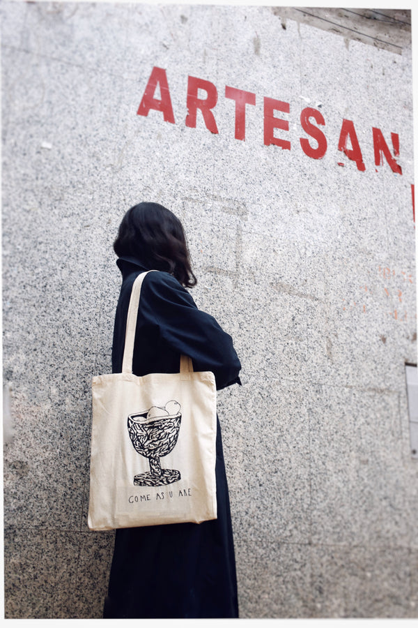 """COME AS U ARE"" // TOTE BAG"