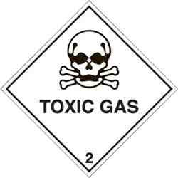 CL 2 TOXIC GAS Decal