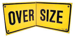 Oversize Sign - Folding Hard Plastic 450MM X 1200MM