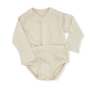 Organic Long Sleeve Skadoosie with Tummy Tab (Cream)