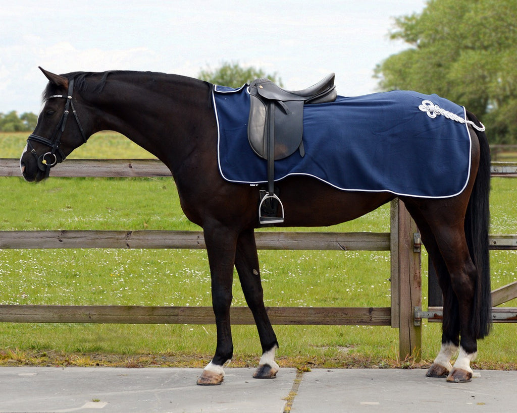 QHP Ornament Exercise Fleece Rug - EveryDay Equestrian