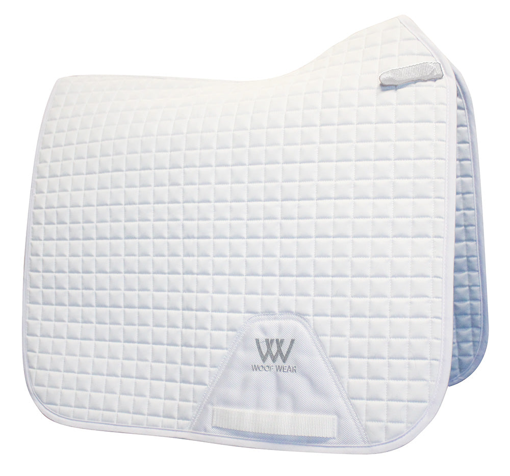 Woof Wear White Competition Dressage Saddle Pad - EveryDay Equestrian