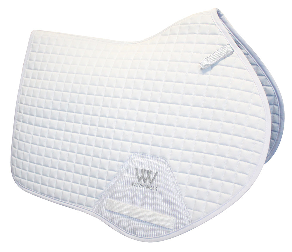 Woof Wear White Competition Close Contact Saddle Pad - EveryDay Equestrian