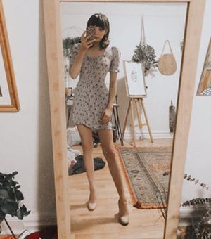 beauty floral dress