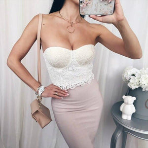 The Strapless Bustier Cropped Top
