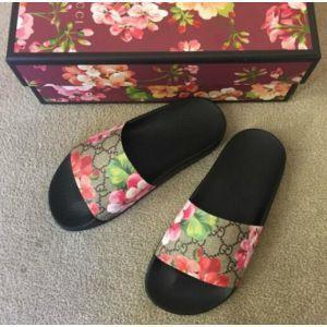 Black Rose Slide Sandals