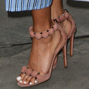 ankle strap high heel party shoes