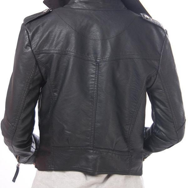 The Leather Motor Jacket Casaco Feminino