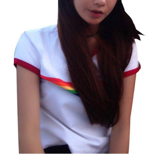 Rainbow Stripe T shirt