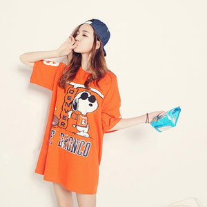 The Cute Cartoon Tops Long Tees.