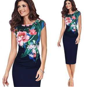 Office Lady Formal Midi Dress