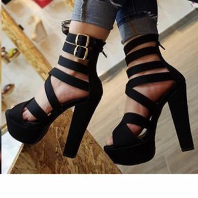 AURORA BELT STRETCH HIGH HEELS