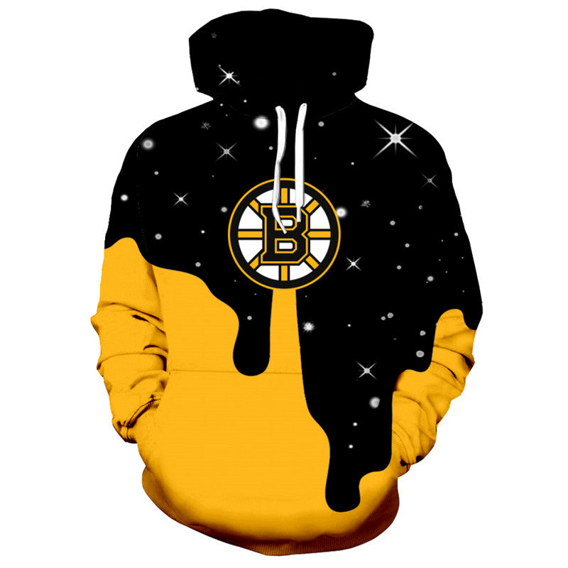 Boston Bruins Hoodie NHL Ice Hockey Hooded Sweatshirt Pullover S-5XL-Hoodie, Sweatshirt-Mike's sport fan