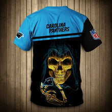 Load image into Gallery viewer, Carolina Panthers T-Shirt 3D skull cheap gift for fans size S-5XL-tshirt-Mike's sport fan