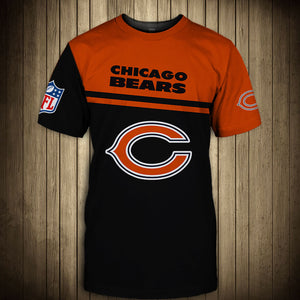 Chicago Bears T-Shirt 3D skull cheap gift for fans size S-5XL-tshirt-Mike's sport fan