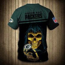 Load image into Gallery viewer, Green Bay Packers T-Shirt 3D skull cheap gift for fans size S-5XL.-tshirt-Mike's sport fan