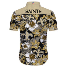 Load image into Gallery viewer, Hot Summer 2019 New Orleans Saints Hawaiian Shirt Tropical Flower Short Sleeve-tshirt-Mike's sport fan