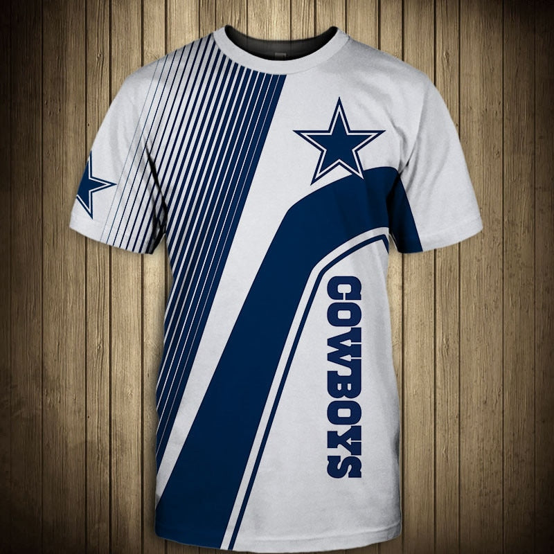 Dallas Cowboys T-Shirt 3D custom cheap gift for fans size S-5XL-tshirt-Mike's sport fan