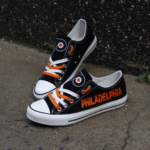 Load image into Gallery viewer, Philadelphia Flyers Canvas Shoes Low Top Black Sneakers for fans Limited NHL-Shoes-Mike's sport fan