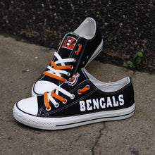 Load image into Gallery viewer, Cincinnati Bengals Canvas Shoes Low Top Sneakers style #1 limits NFL Football Fans-Shoes-Mike's sport fan