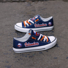 Load image into Gallery viewer, New York Islanders Canvas Shoes Low Top Blue Sneakers for fans Limited NHL-Shoes-Mike's sport fan