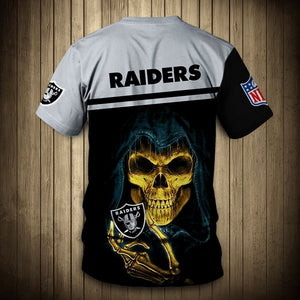 Oakland Raiders T-Shirt 3D skull cheap gift for fans size S-5XL-tshirt-Mike's sport fan