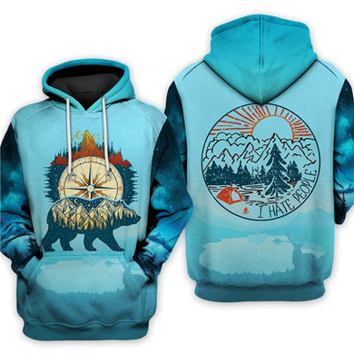 3D Hooded Sweatshirt Cool