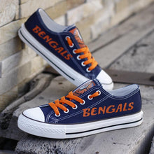 Load image into Gallery viewer, Cincinnati Bengals Canvas Shoes Low Top Sneakers style #2 limits NFL Football Fans-Shoes-Mike's sport fan