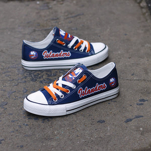 New York Islanders Canvas Shoes Low Top Blue Sneakers for fans Limited NHL-Shoes-Mike's sport fan