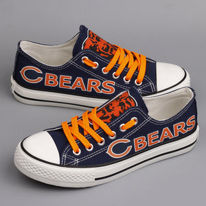 Chicago Bears Canvas Shoes Low Top Sneakers style #1 limits NFL Football Fans-Shoes-Mike's sport fan